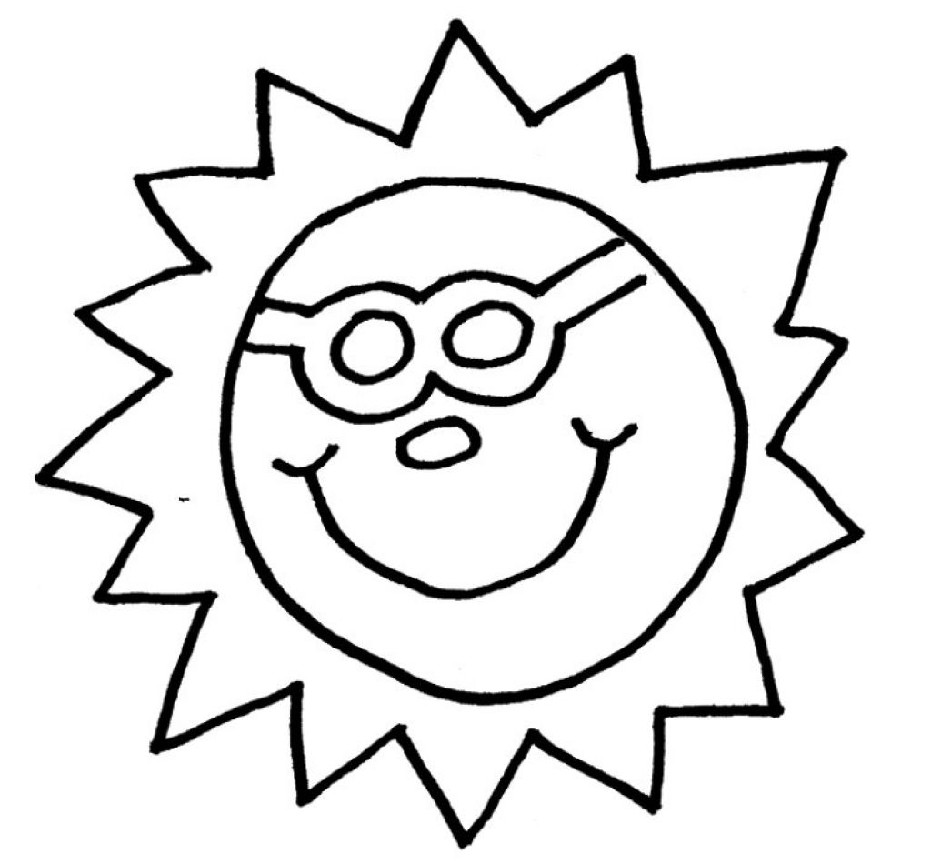 Sun with sunglasses clipart graphic design inspiration