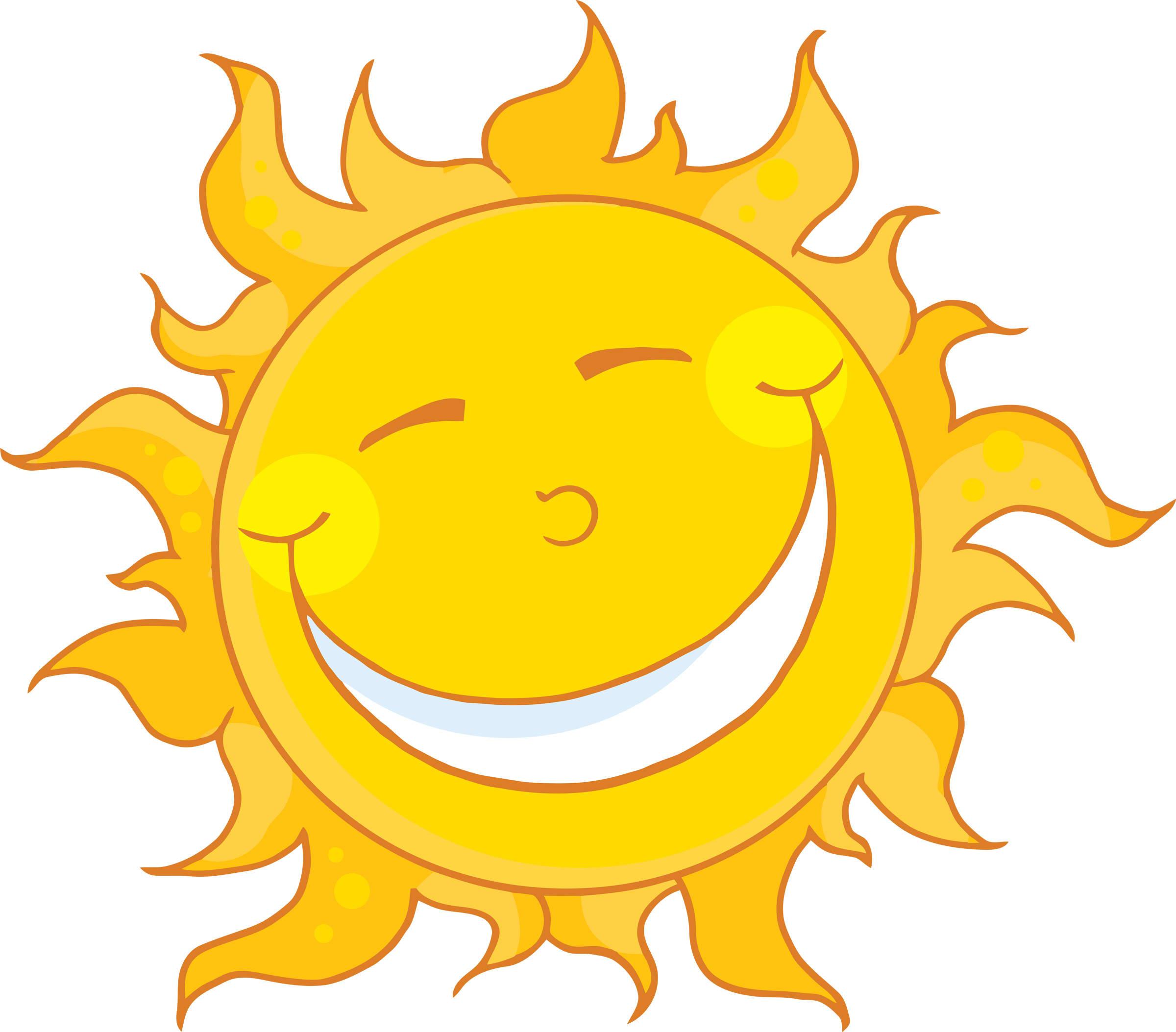 Sun with sunglasses happy face sun clipart