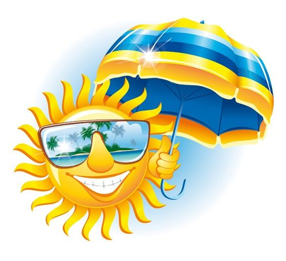Sun with sunglasses the world