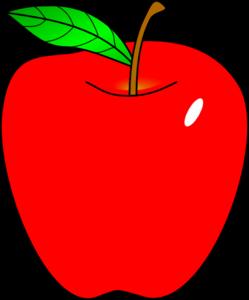 Teacher apple clipart free images