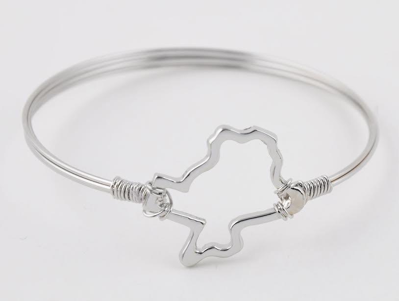Texas outline bracelet wired emli shops