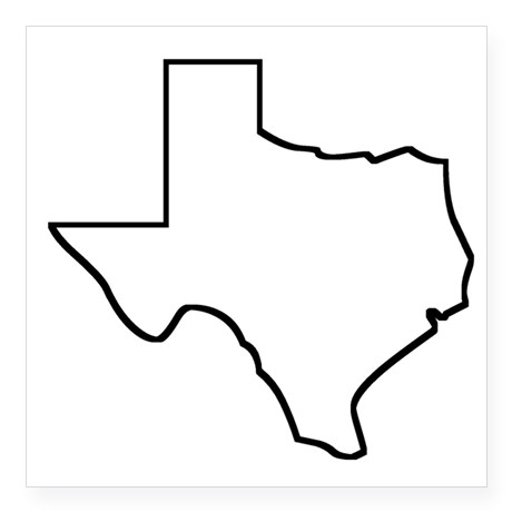 Texas outline bumper stickers car decals
