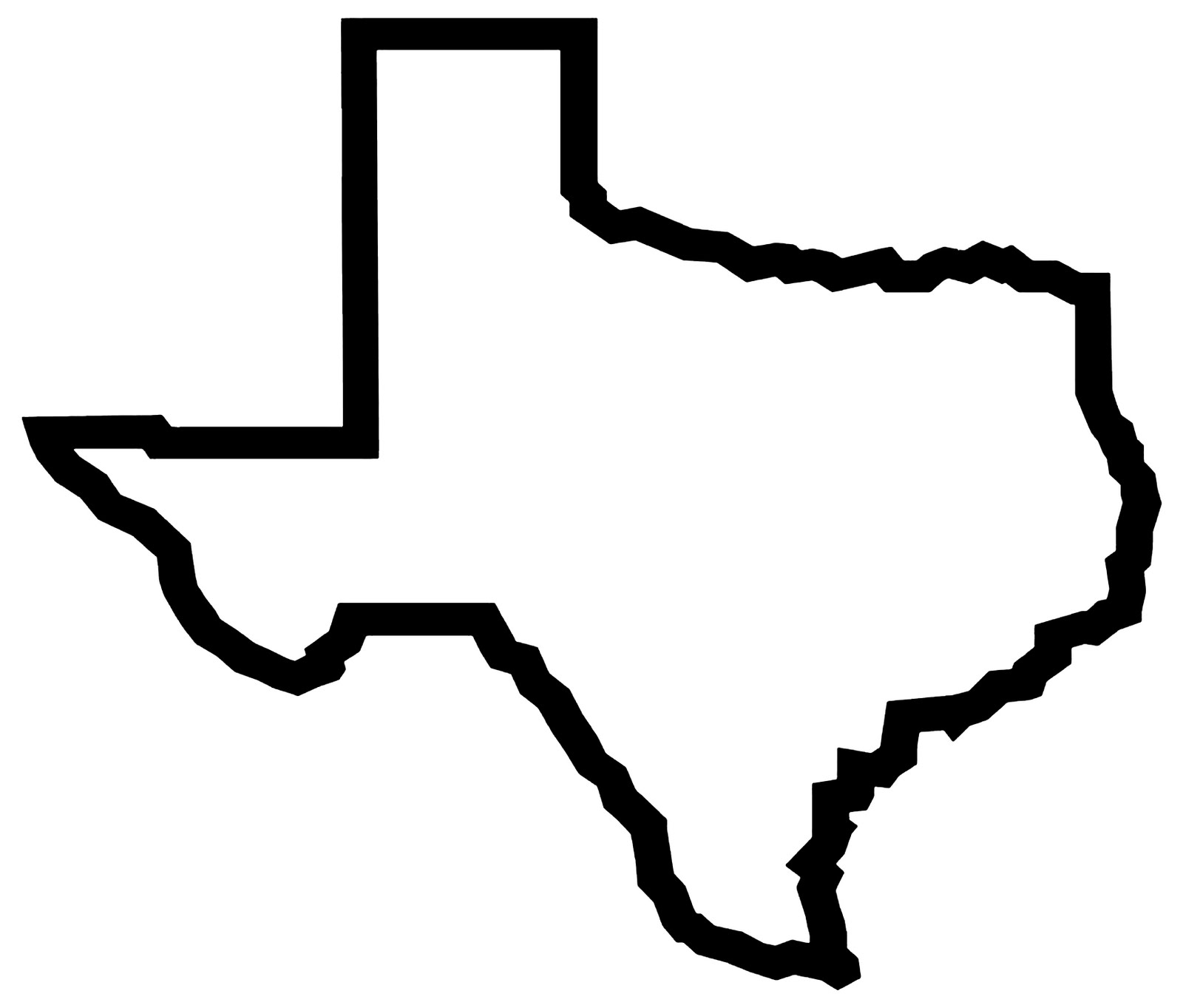 Texas outline clipart free images 3