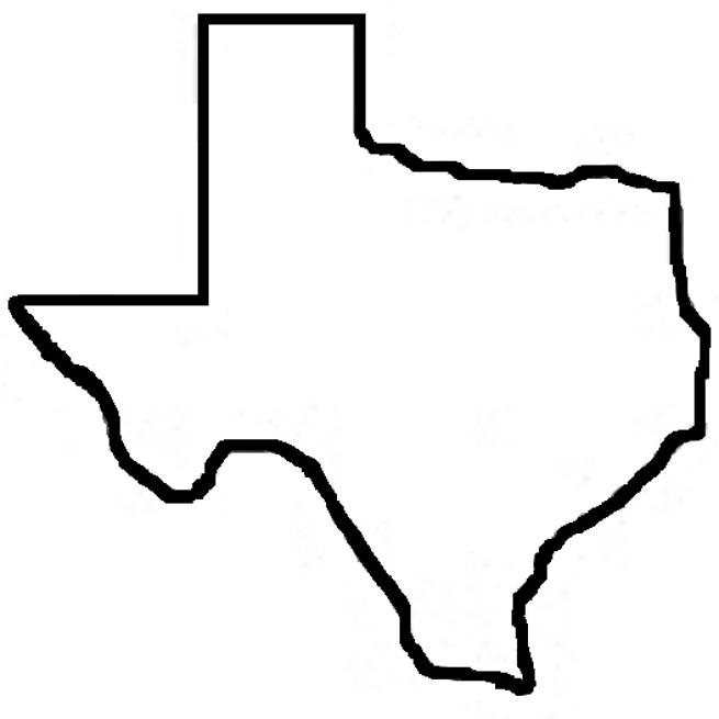 Texas outline clipart free images
