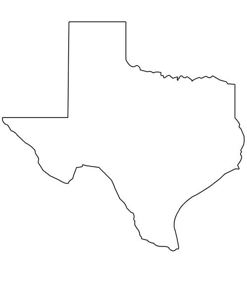 Texas outline printable shape of texas from printabletreats shapes and