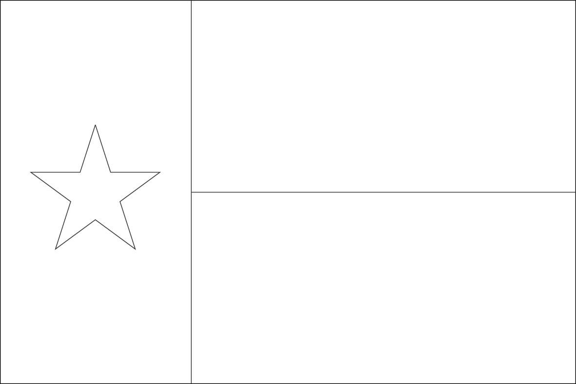 Texas outline texas flag outline clipart