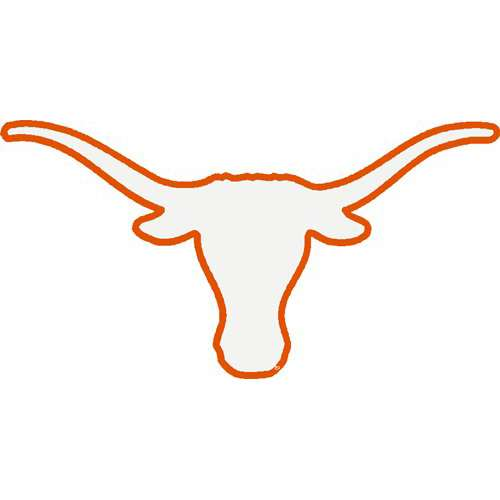 Texas outline with longhorn clipart 2
