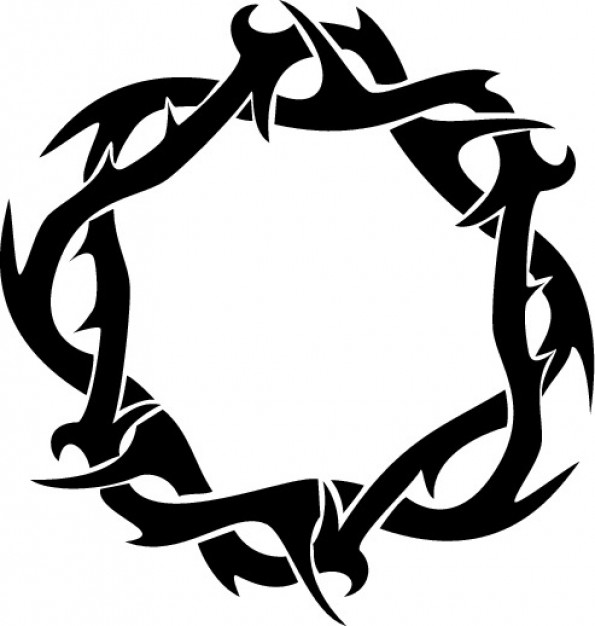 Thorns crown ring clipart top view vector free download