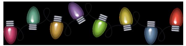 Transparent christmas lights clipart