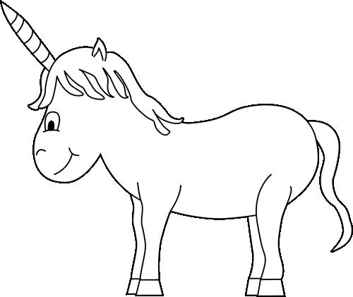 Unicorn  black and white black and white unicorn clip art image