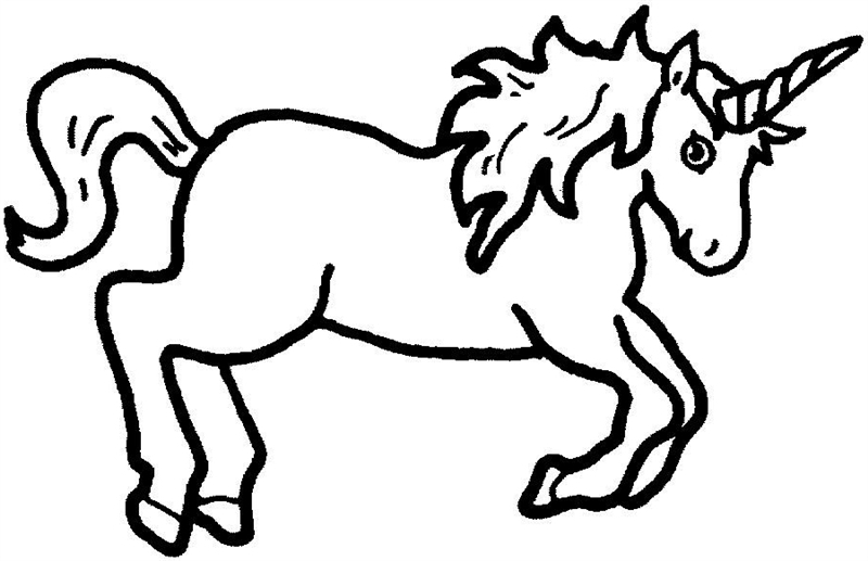Unicorn  black and white unicorn clip art black and white free clipart images 2