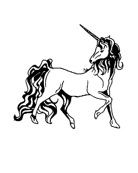 Unicorn  black and white unicorn clipart 4
