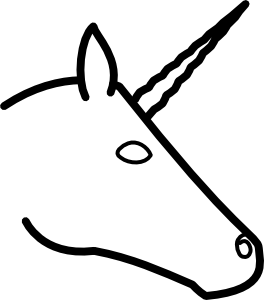 Unicorn  black and white unicorn clipart black and white free images 3