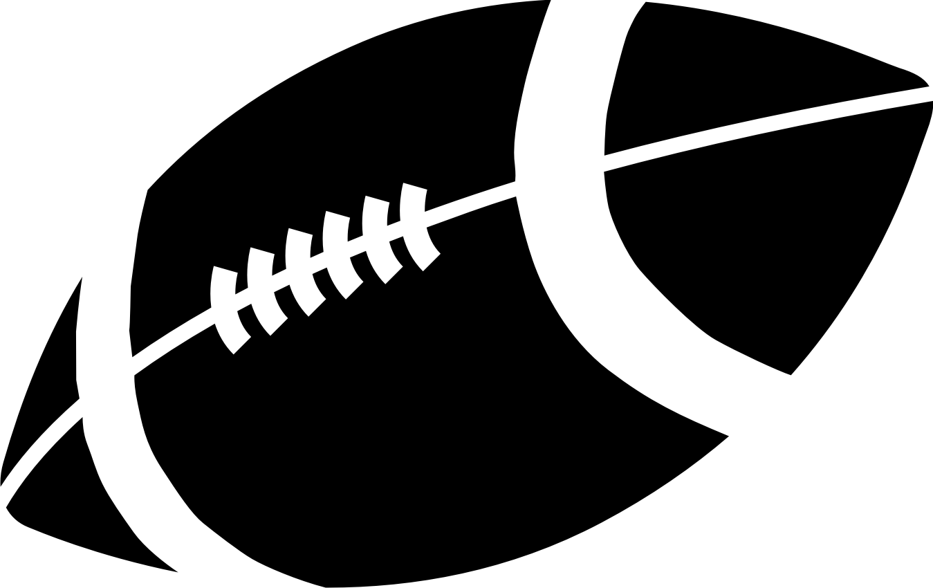 Vector football outline clipart
