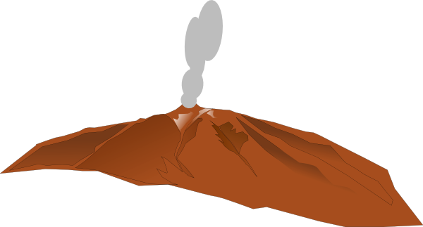 Volcano animation free clipart images
