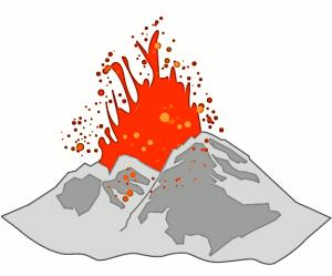 Volcano clip art download