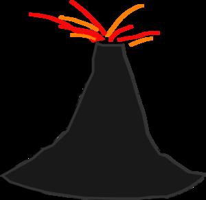 Volcano clip art free clipart clipart