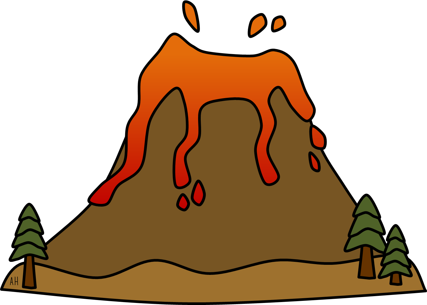 Volcano clip art free clipart images 2