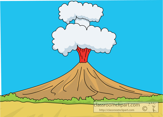 Volcano clip art free clipart images image