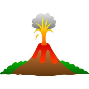 Volcano clipart 2