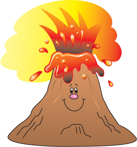 Volcano clipart 4
