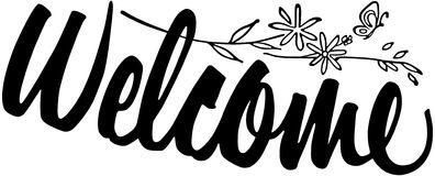 Welcome banner clip art 2