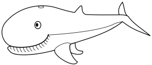Whale  black and white whale clip art download