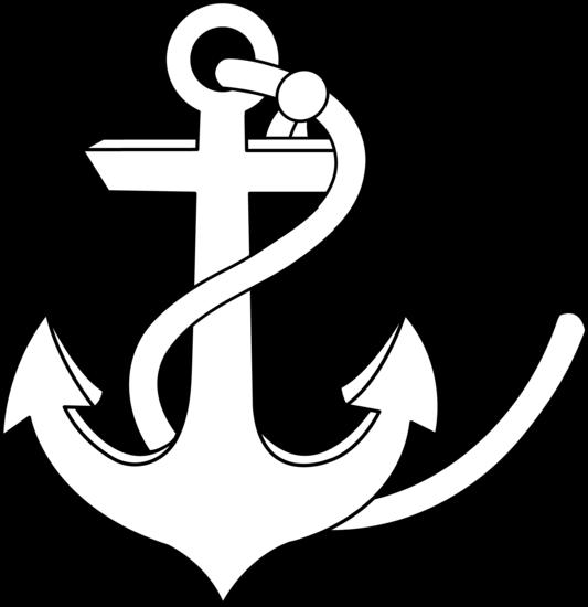 White anchor clip art 2