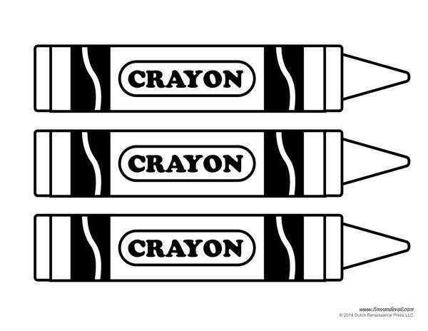 White crayon clipart 2