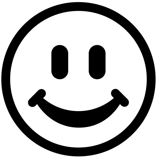 White smiley face clipart