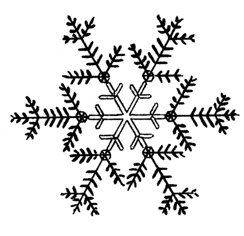 White snowflake clipart tumundografico