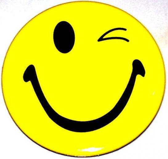 Winking smiley face clip art free clipart images 2