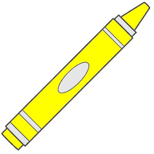 Yellow crayon clipart 3