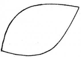 6 images of leaf outline printable template leaves clip art