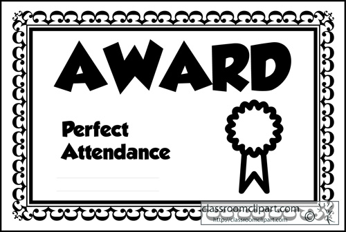 Attendance award clipart