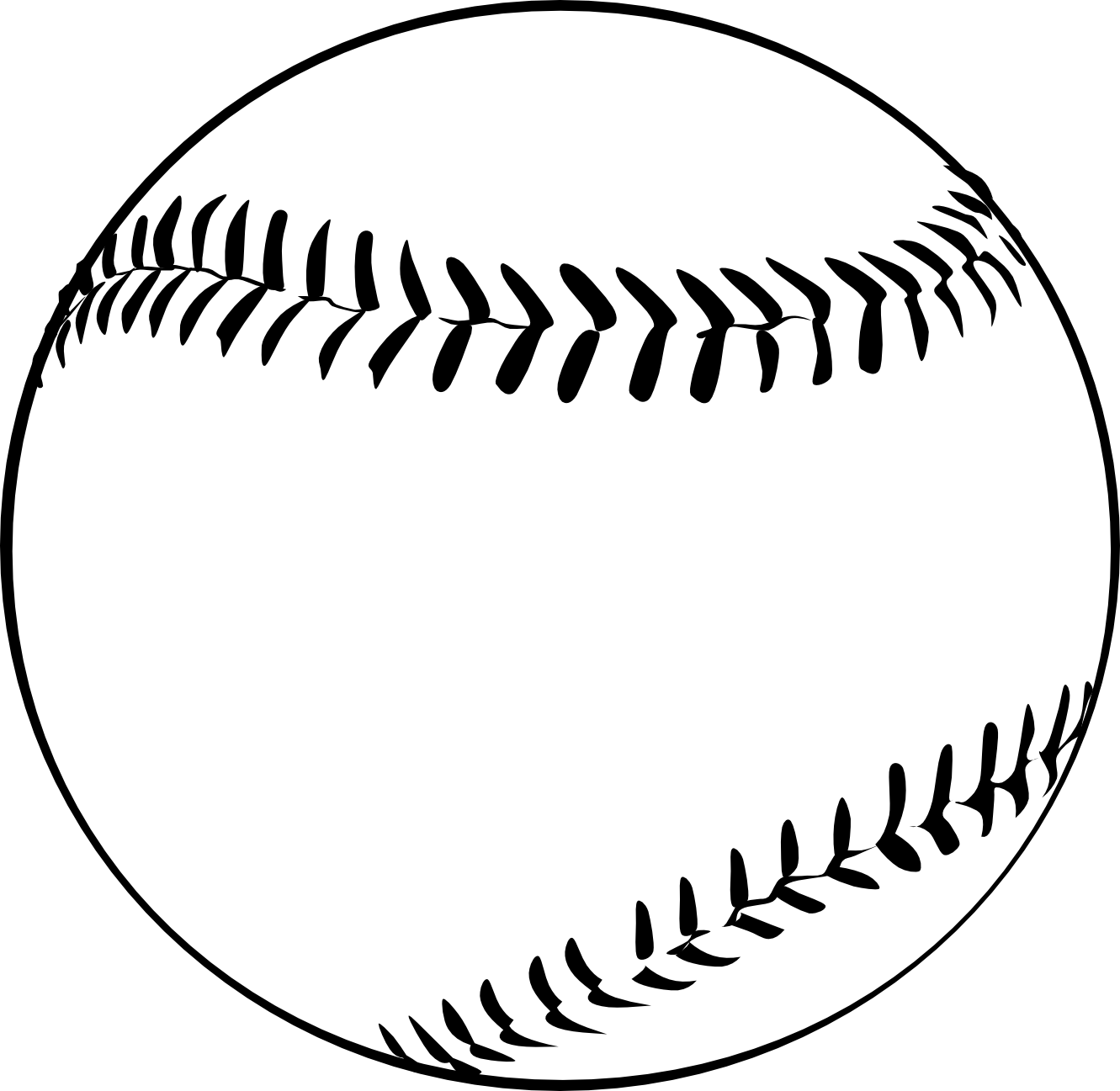 Baseball clipart black and white free images