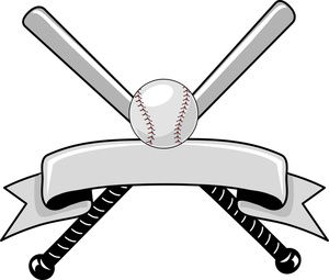 Baseball clipart image logo graphic with a