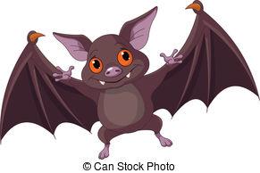 Bat clipart cute
