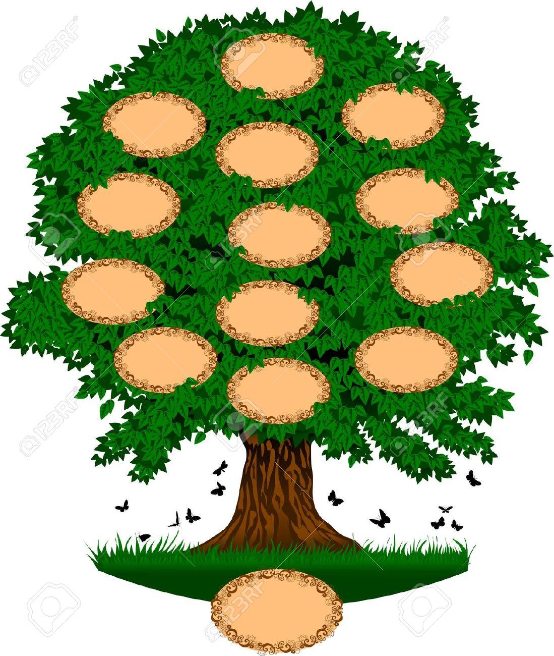 Big family tree clipart 2