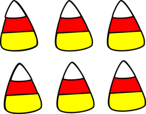 Black and white candy corn clipart free 3