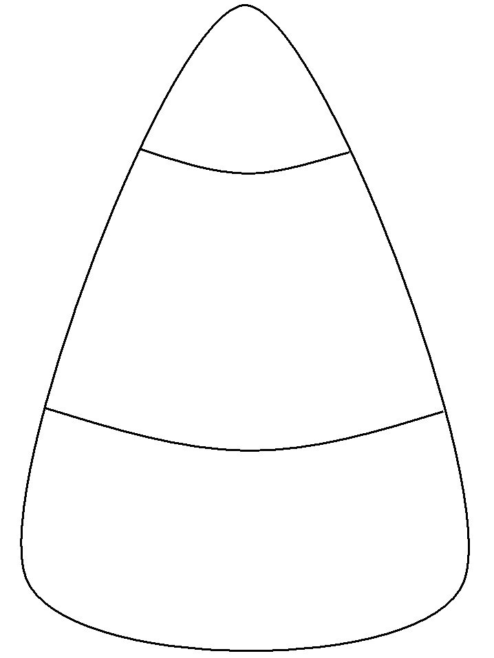 Black and white candy corn clipart