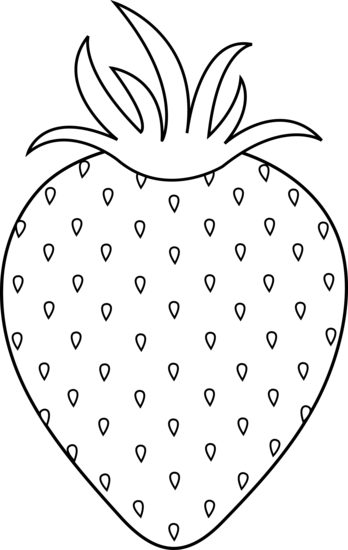 Black and white strawberry clipart