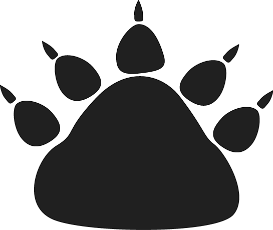 Black bear paw print clip art image