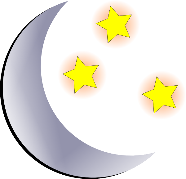 Black stars and moon clipart free images