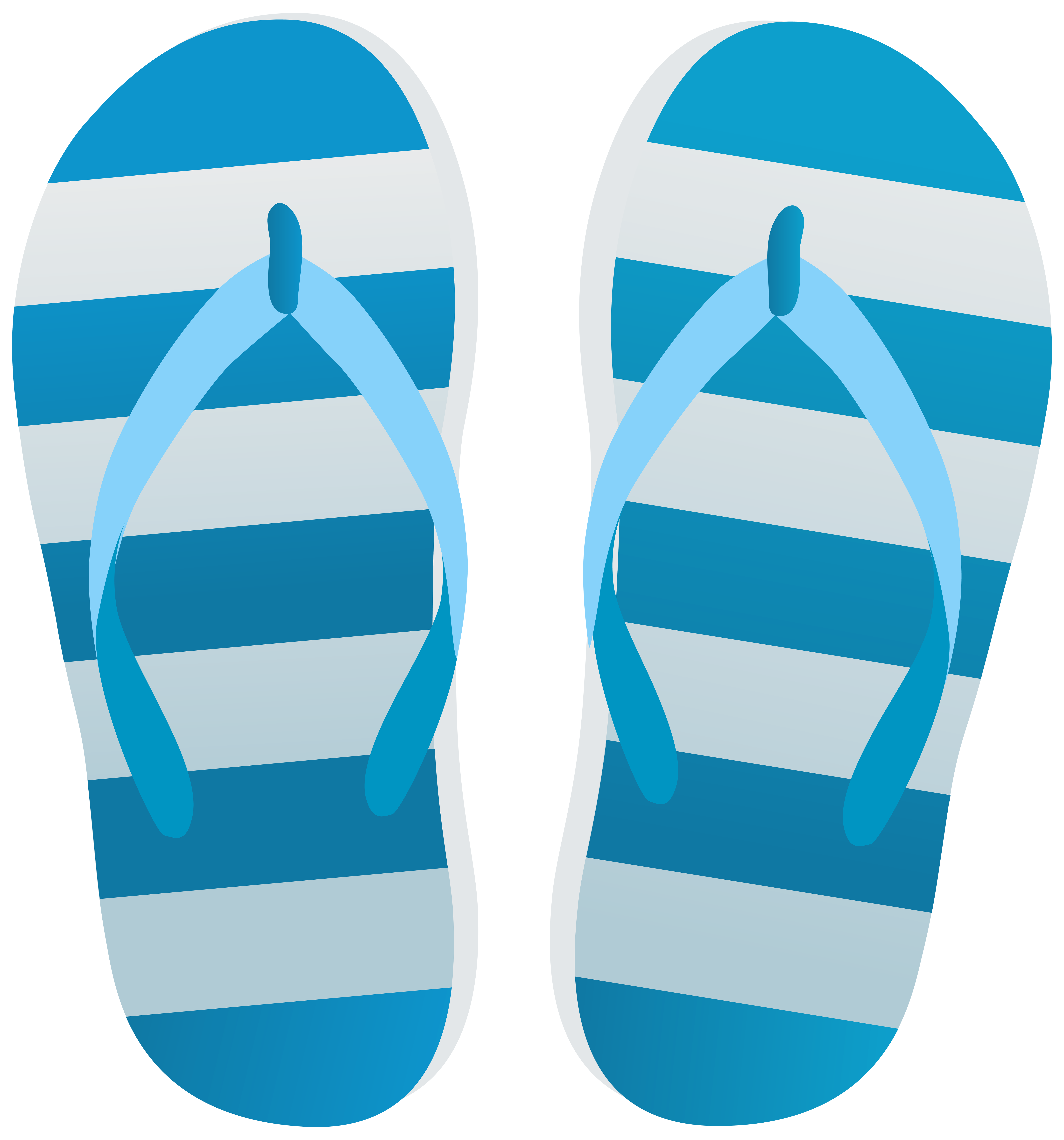 Blue flip flops transparent clip art image