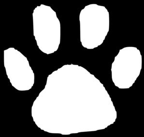 Bobcat paw print clipart