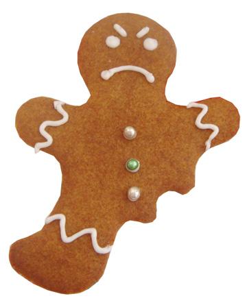 Broken gingerbread man clipart