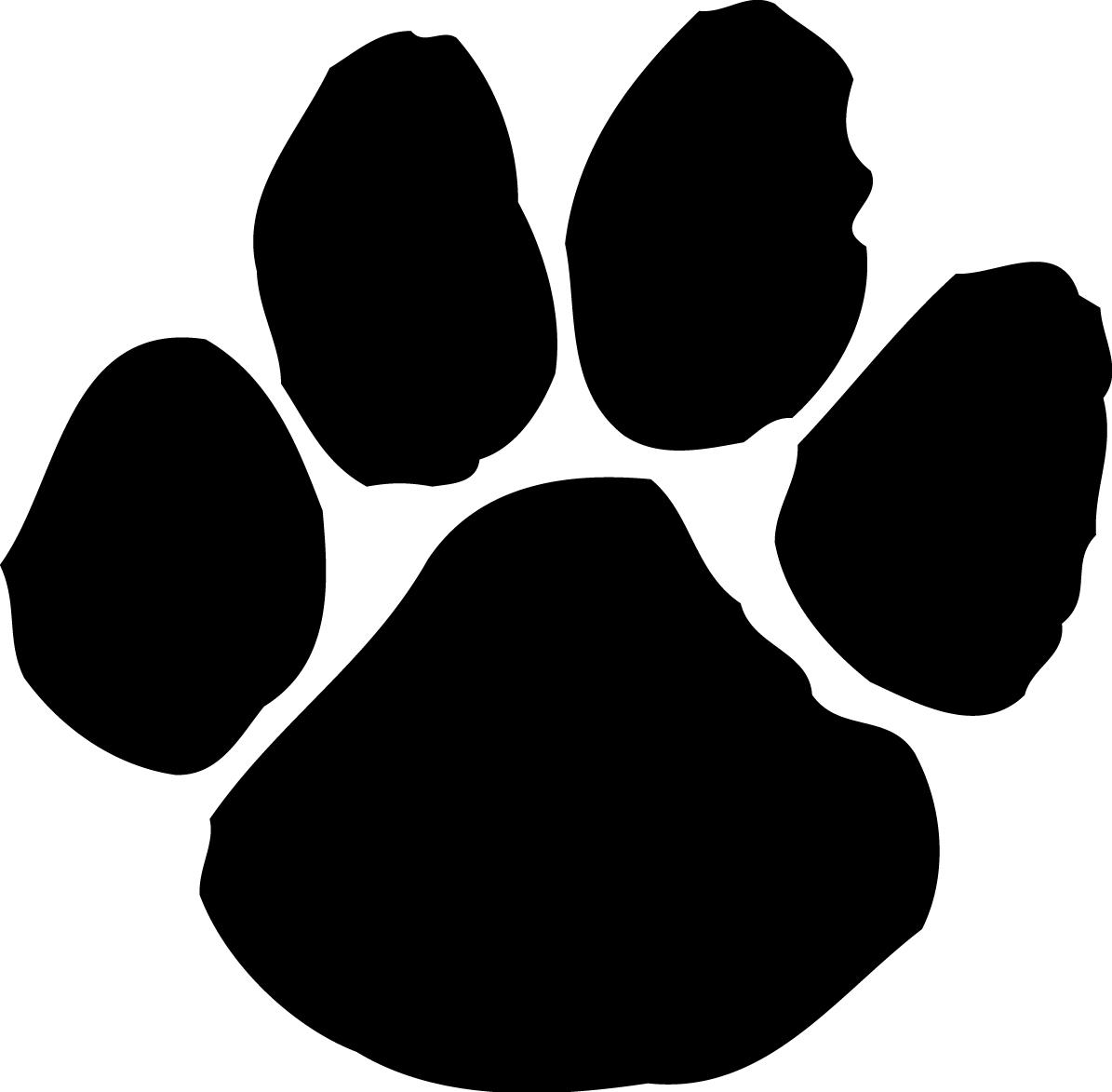 Bulldog paw print clipart 4