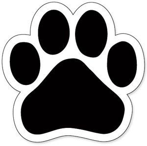 Bulldog paw print clipart 5