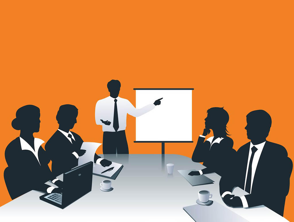 Business meeting clipart 2